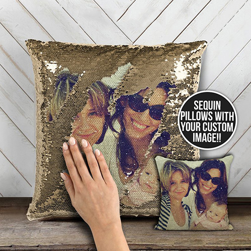 Custom Photo Magic Sequin Pillow Cover