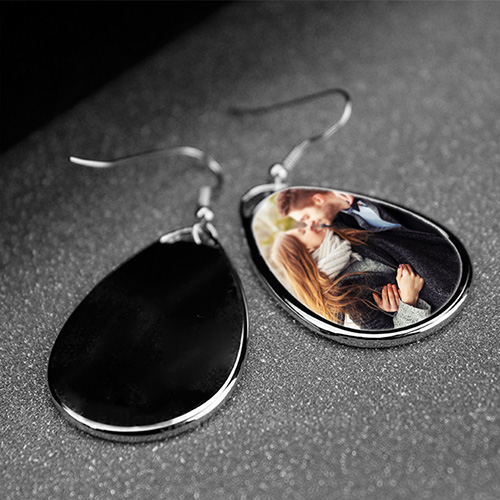 Custom Photo Drop Earrings