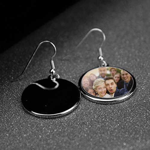 Custom Photo Round Earrings