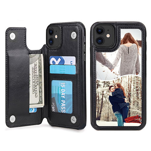 Custom for iPhone 11 Card Holder Wallet Case
