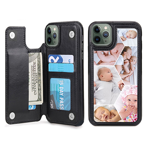Custom for iPhone 11 Pro Max Card Holder Wallet Case