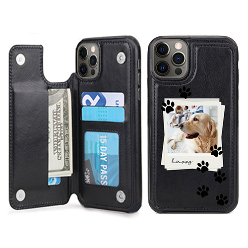 Custom for iPhone 12 Pro Card Holder Wallet Case