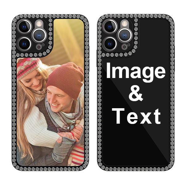 Custom for iPhone 12 Pro Bling Rhinestone Case