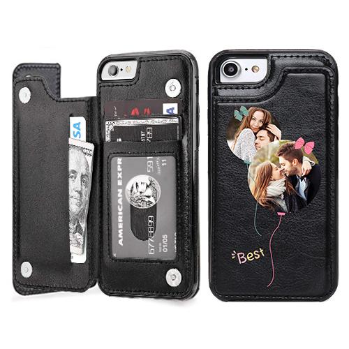 Custom for iPhone 7 Card Holder Wallet Case