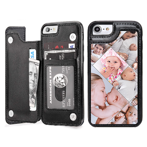 Custom for iPhone 8 Card Holder Wallet Case