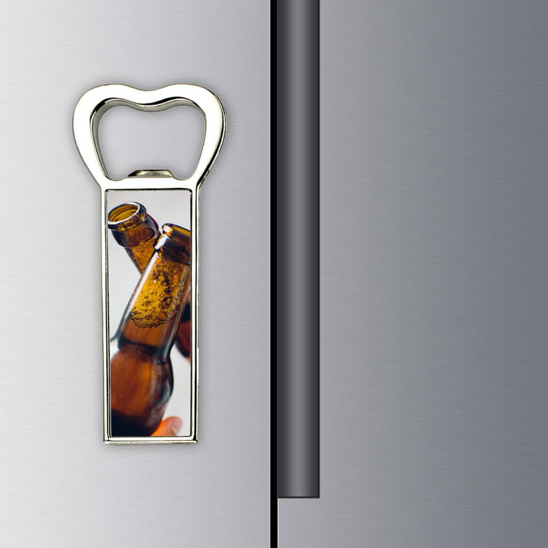 Custom Photo Metal Bottle Opener Magnets