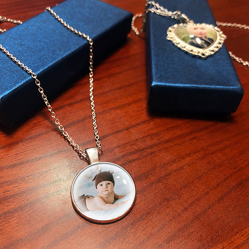Custom Round Photo Pendant