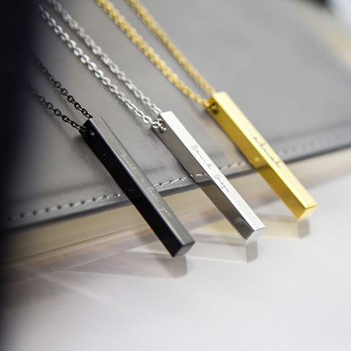 Personalised Monogram Vertical Bar Necklace