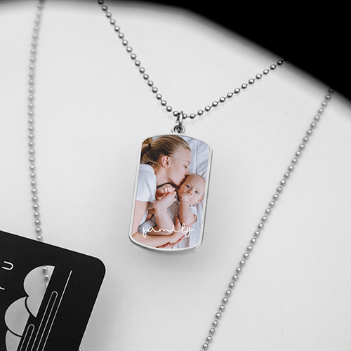 Personalised Stainless Steel Photo Necklace