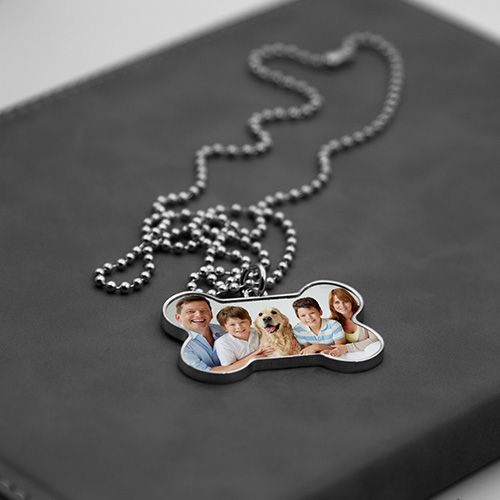 Personalised Bone Shaped Photo Necklace