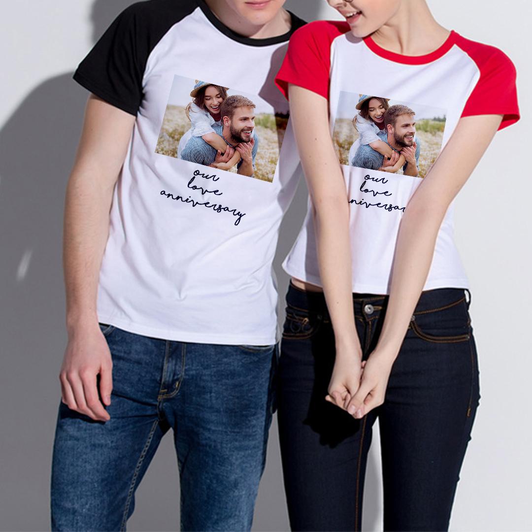 Custom Adult Raglan Short Sleeve T-Shirt