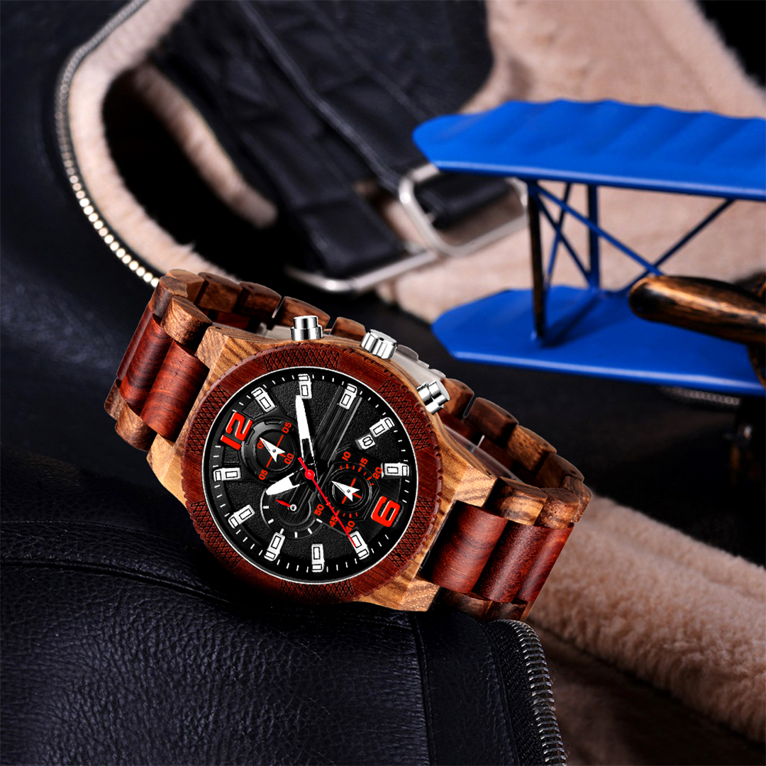 Personalized Text Wooden Watches [1019]
